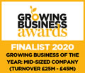 Growing Business of the Year - Finalist 2020